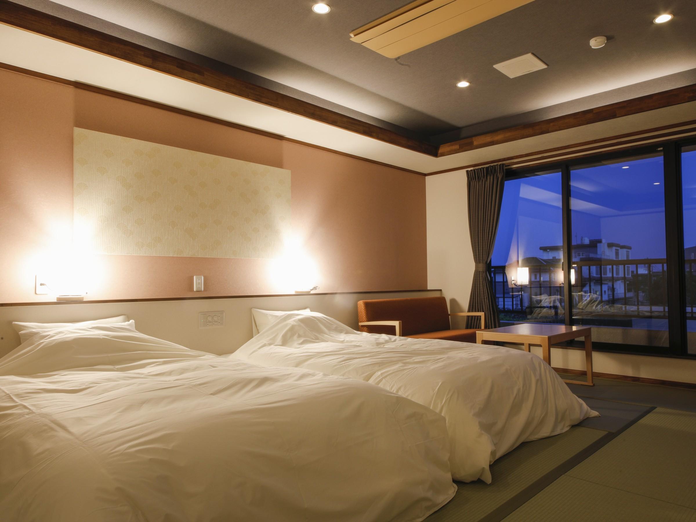 新鮮な海幸と温泉と寝心地いいベッドで癒しのひと時を
